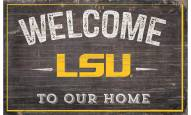 "LSU Tigers 11"" x 19"" Welcome to Our Home Sign"
