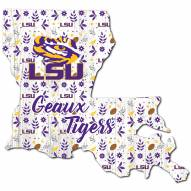 "LSU Tigers 12"" Floral State Sign"