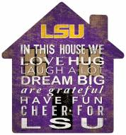 "LSU Tigers 12"" House Sign"