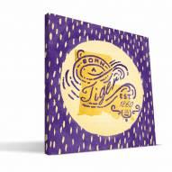 """LSU Tigers 12"""" x 12"""" Born a Fan Canvas Print"""