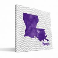 "LSU Tigers 12"" x 12"" Home Canvas Print"