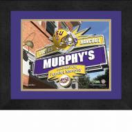 LSU Tigers 13 x 16 Personalized Framed Sports Pub Print