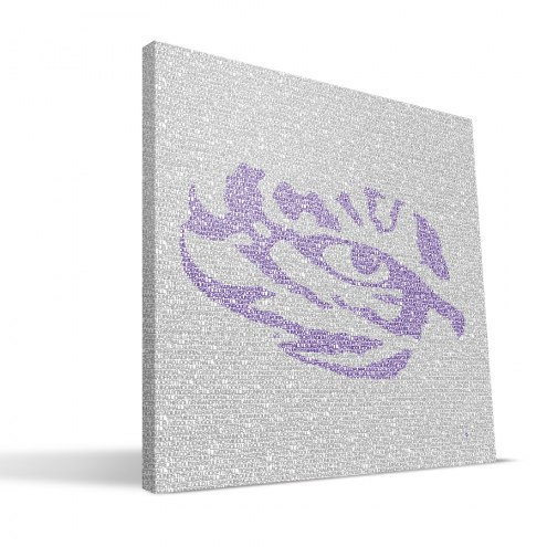 "LSU Tigers 16"" x 16"" Typo Canvas Print"