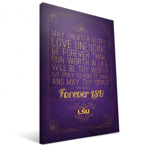 "LSU Tigers 16"" x 24"" Song Canvas Print"