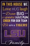"LSU Tigers 17"" x 26"" In This House Sign"