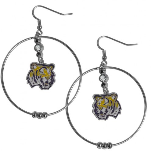 "LSU Tigers 2"" Hoop Earrings"