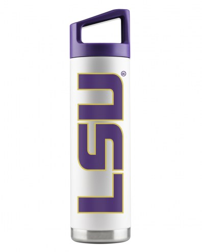 LSU Tigers 22 oz. Stainless Steel Powder Coated Water Bottle