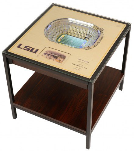 LSU Tigers 25-Layer StadiumViews Lighted End Table