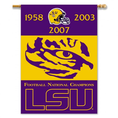 "LSU Tigers 28"" x 40"" Two-Sided Championship Banner"