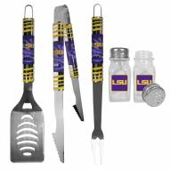 LSU Tigers 3 Piece Tailgater BBQ Set and Salt and Pepper Shakers