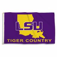 LSU Tigers 3' x 5' State Outline Flag