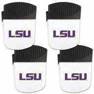 LSU Tigers 4 Pack Chip Clip Magnet with Bottle Opener