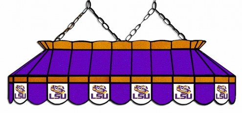 """LSU Tigers 40"""" Stained Glass Pool Table Light"""