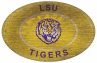 "LSU Tigers 46"" Heritage Logo Oval Sign"