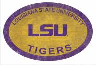 "LSU Tigers 46"" Team Color Oval Sign"