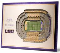 LSU Tigers 5-Layer StadiumViews 3D Wall Art