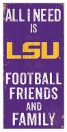 "LSU Tigers 6"" x 12"" Friends & Family Sign"