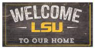 "LSU Tigers 6"" x 12"" Welcome Sign"