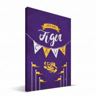 "LSU Tigers 8"" x 12"" Little Man Canvas Print"