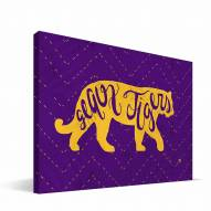 "LSU Tigers 8"" x 12"" Mascot Canvas Print"