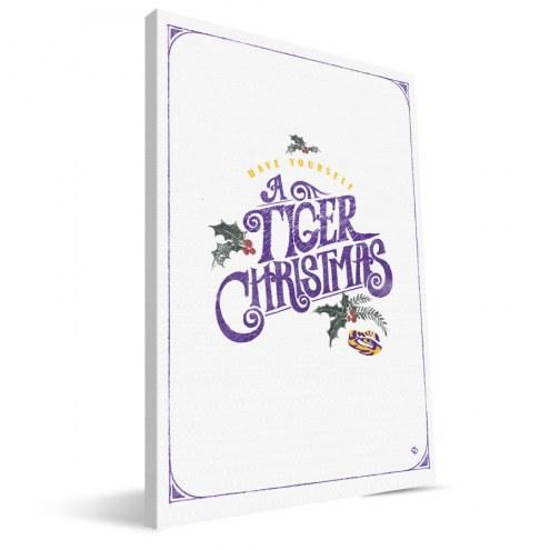 "LSU Tigers 8"" x 12"" Merry Little Christmas Canvas Print"