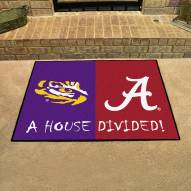 LSU Tigers/Alabama Crimson Tide House Divided Mat
