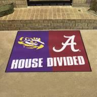 LSU Tigers/Alabama Crimson Tide House Divided Mat