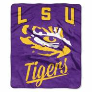 LSU Tigers Alumni Raschel Throw Blanket