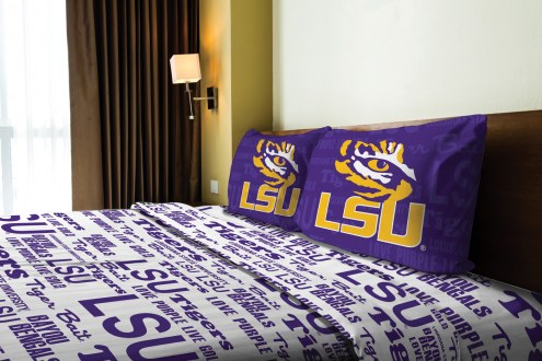 LSU Tigers Anthem Full Bed Sheets
