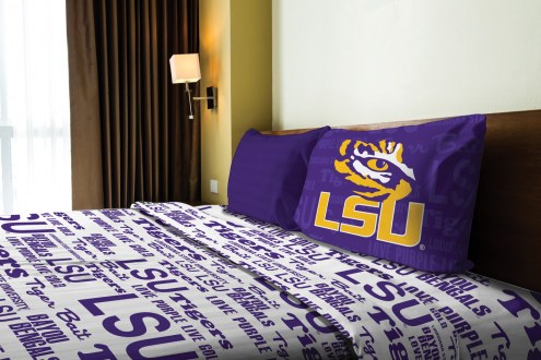 LSU Tigers Anthem Twin Bed Sheets