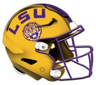 LSU Tigers Authentic Helmet Cutout Sign