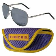 LSU Tigers Aviator Sunglasses and Sports Case