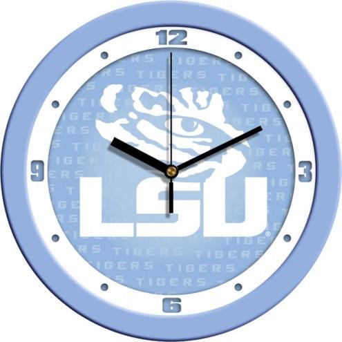 LSU Tigers Baby Blue Wall Clock