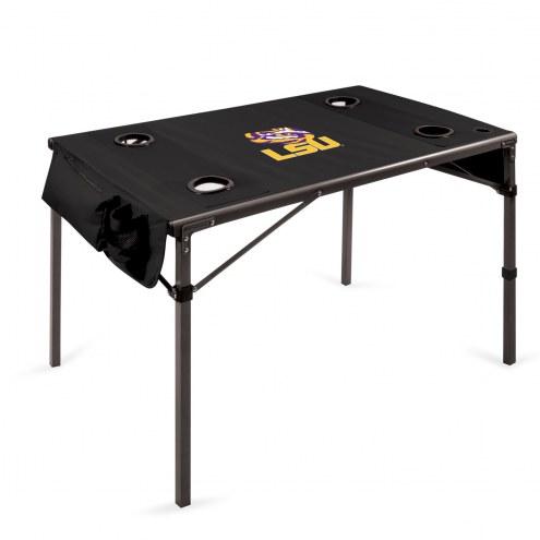 LSU Tigers Black Travel Table