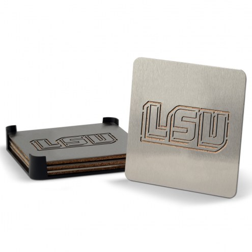LSU Tigers Boasters Stainless Steel Coasters - Set of 4