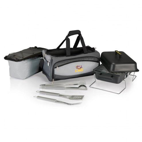 LSU Tigers Buccaneer Grill, Cooler and BBQ Set