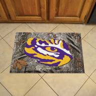LSU Tigers Camo Scraper Door Mat