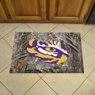 LSU Tigers Camo Scraper Door Mat
