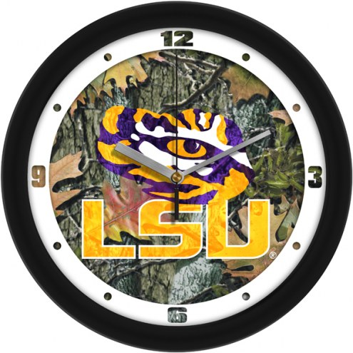 LSU Tigers Camo Wall Clock