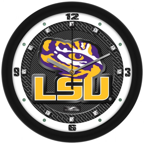 LSU Tigers Carbon Fiber Wall Clock