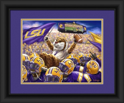 LSU Tigers Celebration Framed Print