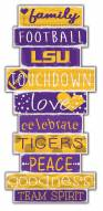 LSU Tigers Celebrations Stack Sign
