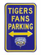 LSU Tigers Champs Parking Sign