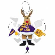 LSU Tigers Cheering Reindeer Ornament