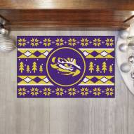 LSU Tigers Christmas Sweater Starter Rug