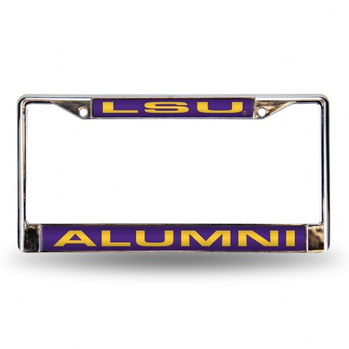 LSU Tigers Chrome Alumni License Plate Frame