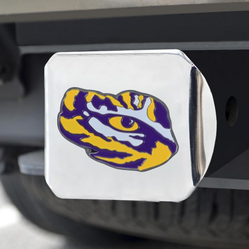 LSU Tigers Chrome Color Hitch Cover