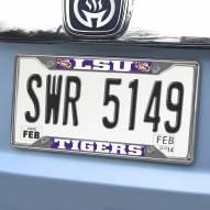 LSU Tigers Chrome Metal License Plate Frame