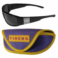 LSU Tigers Chrome Wrap Sunglasses & Sports Case