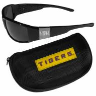 LSU Tigers Chrome Wrap Sunglasses & Zippered Carrying Case